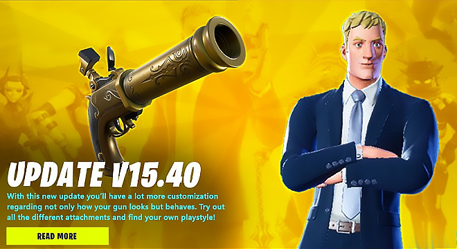 Fortnite v15.40 Patch Notes, Release Time, New Content